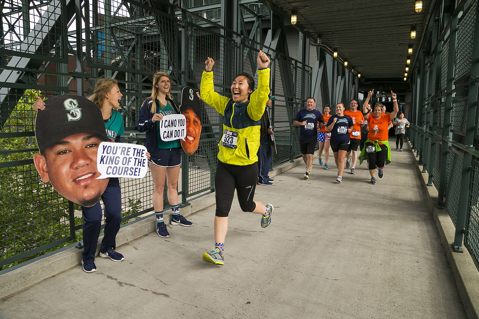 The Refuse to Abuse 5k, at Safeco Field July 21, supports the Washington State Coalition Against Domestic Violence. Ben VanHouten photo