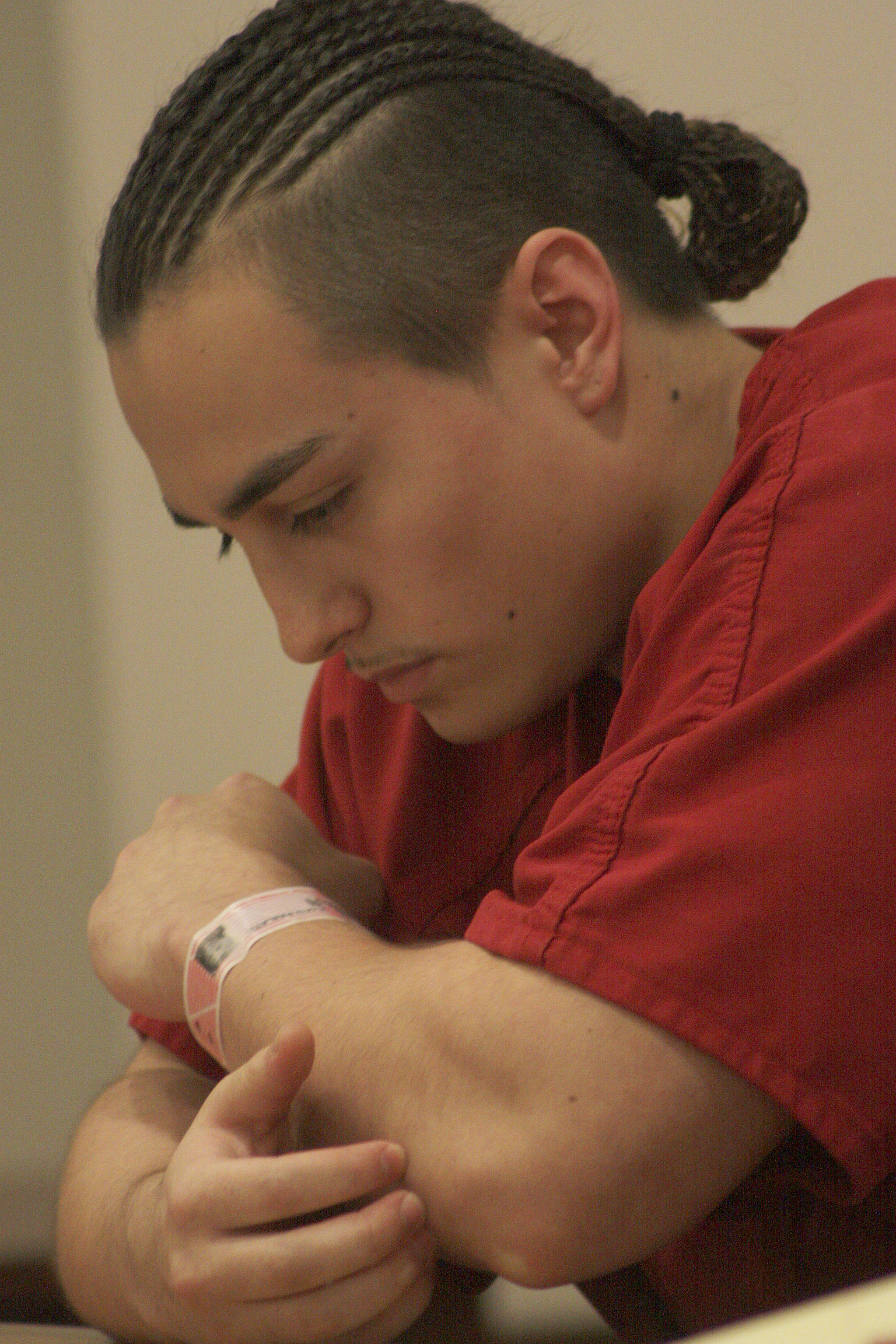 Julian Tuimauga bows after delivering his apology to the Horne family at his sentencing Friday. MARK KLAAS, Kent Reporter