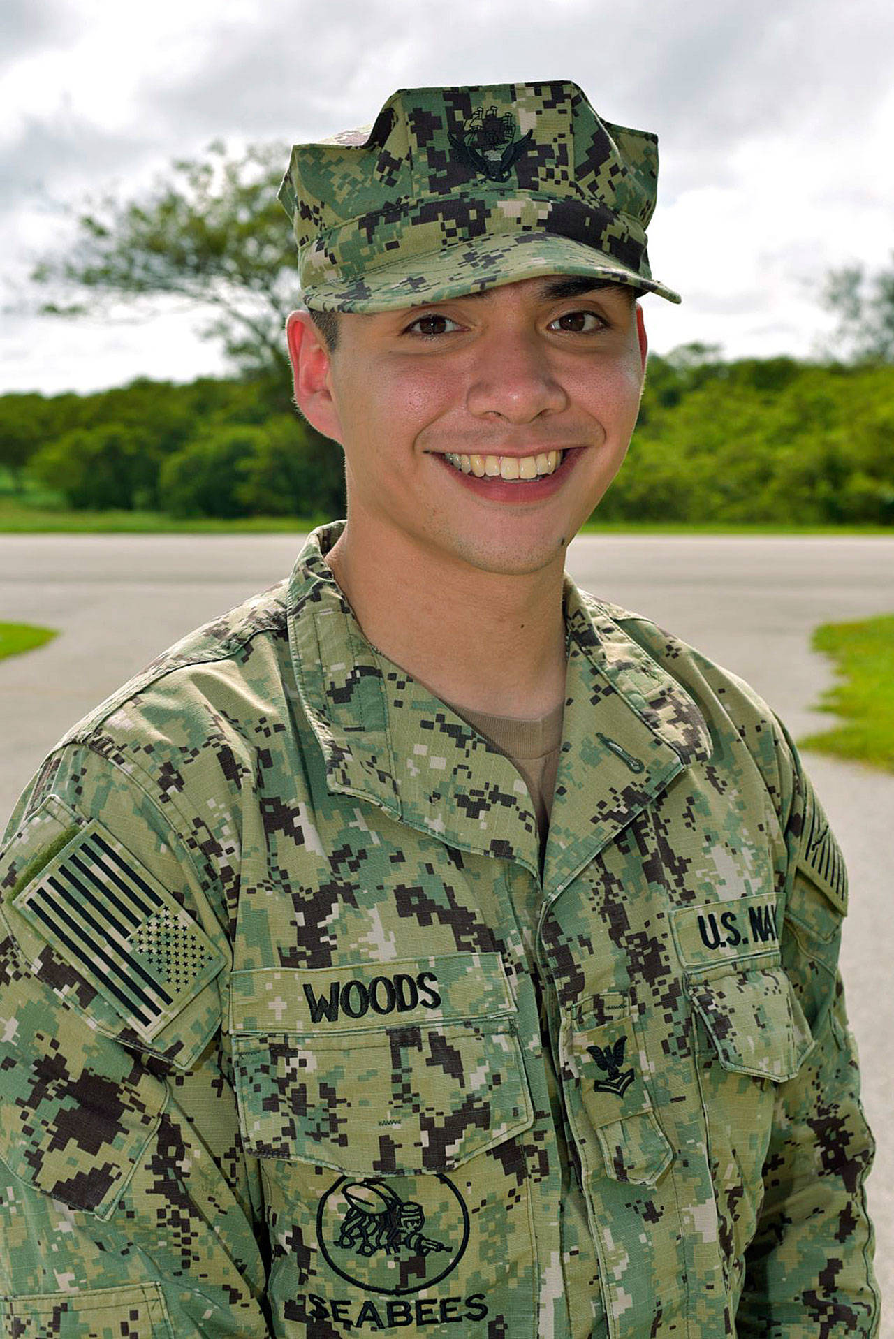 The Navy's Andrew Woods. COURTESY PHOTO, Mass Communication Specialist 1st Class Heidi Cheek